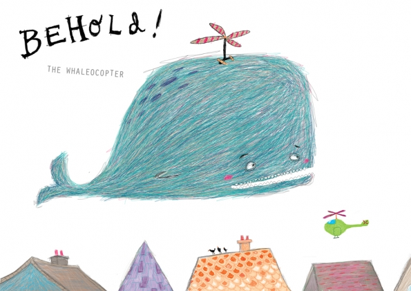 Maxine lee children 39 s illustration the whaleocopter for Bright illustration agency